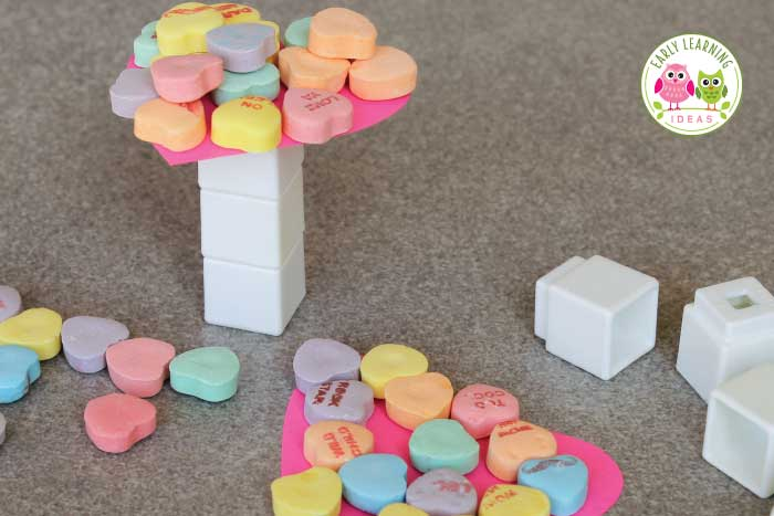 Conversation hearts can be used for fun Valentine's Day learning activities. Here are many activity ideas and a free printable. Use the Valentine's Day candy hearts for math & number activities, learning letters, and party activities in your preschool and pre-k classroom. So many ways for hands'on learning for your Valentine's Day theme unit or lesson plans. #preschool #valentinesactivities #conversationhearts
