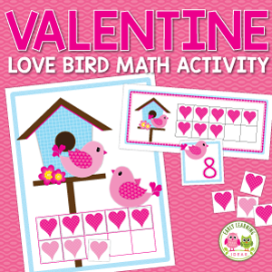 Valentines Day math and number activities