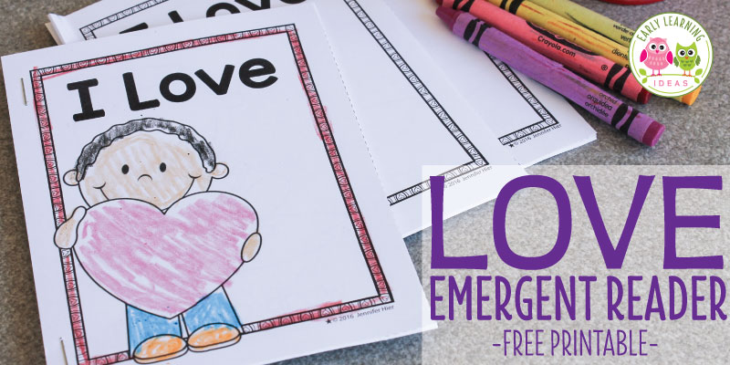Free Valentine's Day Printable Emergent Reader