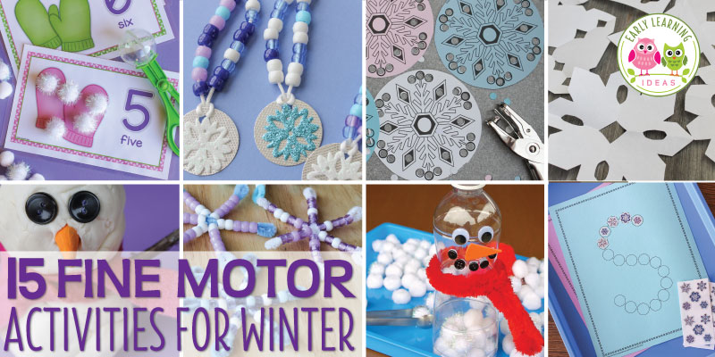 15 Winter Fine Motor Activities for Kids