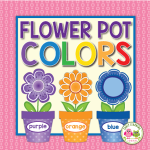 flower color matching and sorting activity