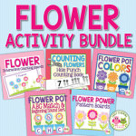 flower activities bundle for preschool and pre-k