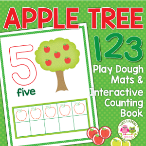 apple counting and math activities for preschool, pre-k and kindergarten