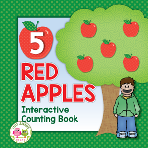 five red apples interactive counting book activity