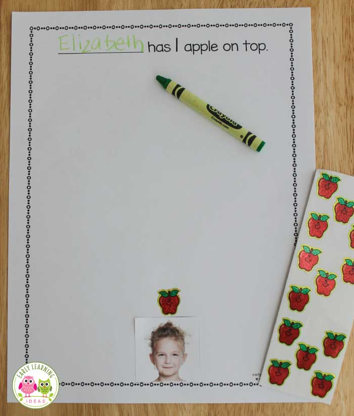 Here are some free printables to help you make an apple counting book for your kids. Kids will enjoy reading this fun numbers book because it features pictures of them. Perfect for your apple theme, back to school theme, Johnny Appleseed theme unit or lesson plans.  The apple activity is also a perfect add to your study of Dr. Seuss and his Ten Apples on Top book. Make the book in your literacy centers then read it during circle time or add to your class library.  #applesactivities #preschool