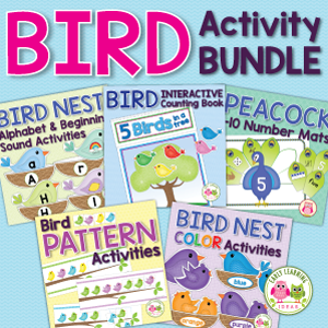 bird and spring activities bundle