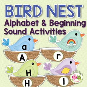 bird alphabet and beginning sound matching activity for preschool, pre-k and kindergarten