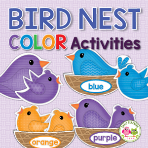 birds theme color sorting activity