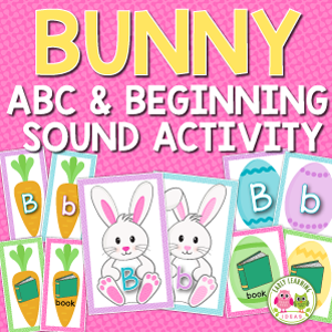 Easter bunny alphabet and beginning sound activity