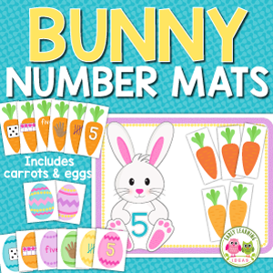 Easter bunny math activities for preschool and pre-k