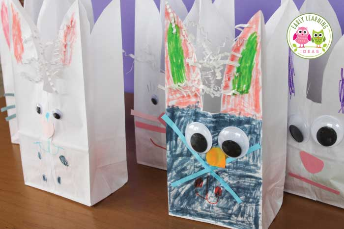 Easter crafts for preschoolers bunny bags early for Brown paper bag crafts for preschoolers