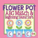 flower alphabet and beginning sound activity