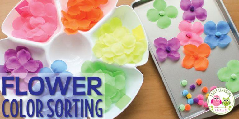 Flower Color Sorting Activities