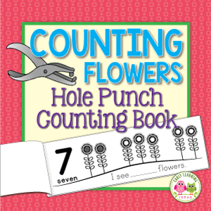 flower hole punch fine motor and counting activity