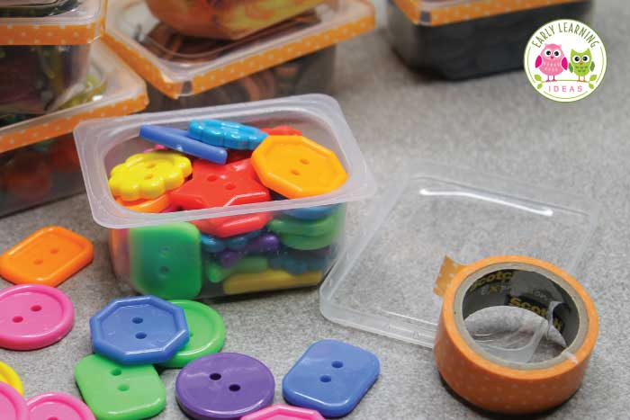 Use this fun activity featuring measurement for kids in your math or STEM learning center. Kids weigh containers of everyday objects in a bucket balance scale. Your children will have fun while learning the concepts of heavy and light and also learn to sort the objects by weight. Perfect for your preschool, pre-k and kindergarten classroom. This hands-on learning center can be used for any theme or lesson plans....just use thematic materials in the containers...ideas are included. #preschool
