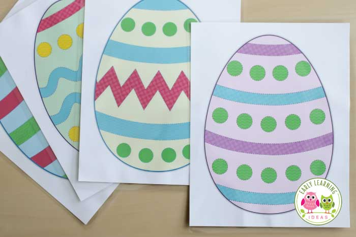 Looking for ideas for Easter? Download these Easter theme free printables today. Use these cute printable Easter eggs to help kids practice their pre-writing skills and fine motor skills in a fun way. Your children will enjoy tracing the different lines that decorate the eggs. Perfect for your Easter theme unit and lesson plans in your preschool or pre-k classroom learning centers. #preschool #preschoolactivities #preschooleaster #finemotor