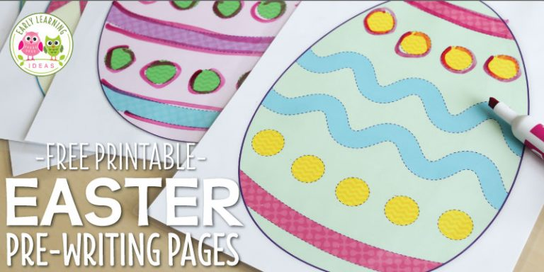 How to Use These Free Printable Easter Activities for Pre-Writing Practice