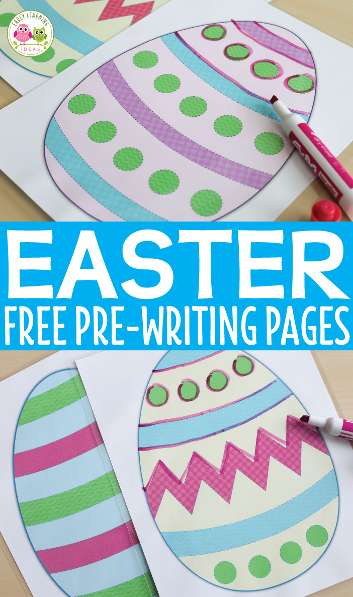 Here are some great printable Easter activities that will help your kids work on developing handwriting skills. Kids can trace a variety of lines on these free Easter egg pre-writing practice pages. A great addition to your Easter theme, bunny theme, Spring theme, pets theme unit and lesson plans.Easter fine motor activity ideas. Preschool, pre-k, and OT