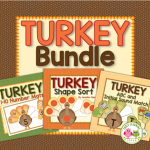 turkey and Thanksgiving activities bundle