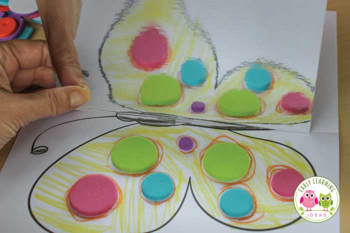 Use this fun butterfly activity to introduce symmetry and mirror image to your kids. Decorate the free printable butterfly and use a mirror to help kids see the symmetry. This is a great math activity for your butterfly theme, bugs and insects theme, spring theme unit or lesson plans. A great STEAM activity and addition to a study of Eric Carle or butterfly life cycles. A fun art project...and you won't need coffee filters or pipe cleaners. #preschoolactivities #butterflyactivities