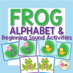 Frog alphabet match and beginning sound sort