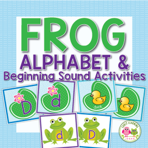 frog alphabet and beginning sound activity