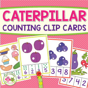 caterpillar counting clip card activity