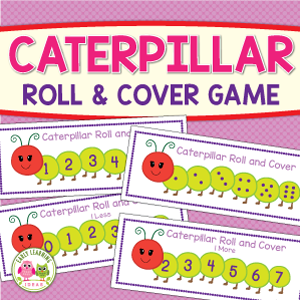 caterpillar roll and cover math game