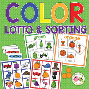 color game and sorting activity for preschool and pre-k