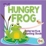 Frog interactive counting book for preschool, pre-k and kindergarten