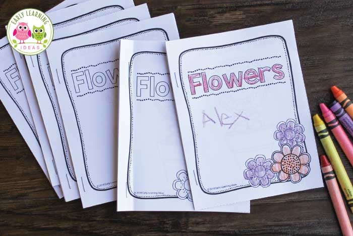 Kids will love these free flower books. They can learn color words as they read the simple, predictable text. The checklist on the last page serves as a great review or can be used as a flower scavenger hunt. Perfect for your spring garden theme, Earth Day theme, plants theme, or flowers theme unit or lesson plans in your preschool or pre-k classroom. Take the free printables to the playground or on a walk through the neighborhood or use in your writing center. #preschool #preschoolactivities