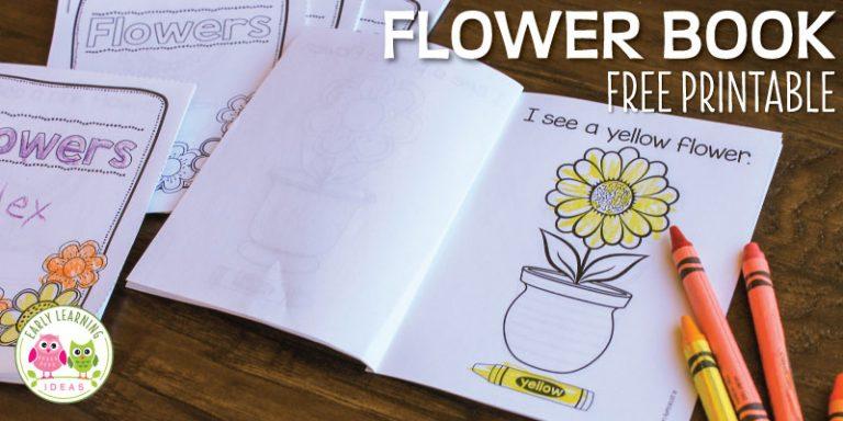 Flower Printable Book : Color Emergent Reader for Spring