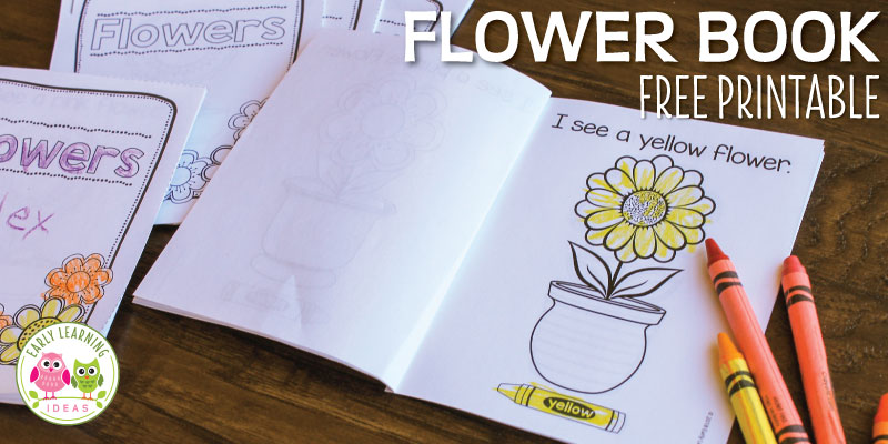 Flower Printable Book : Color Emergent Reader for Spring