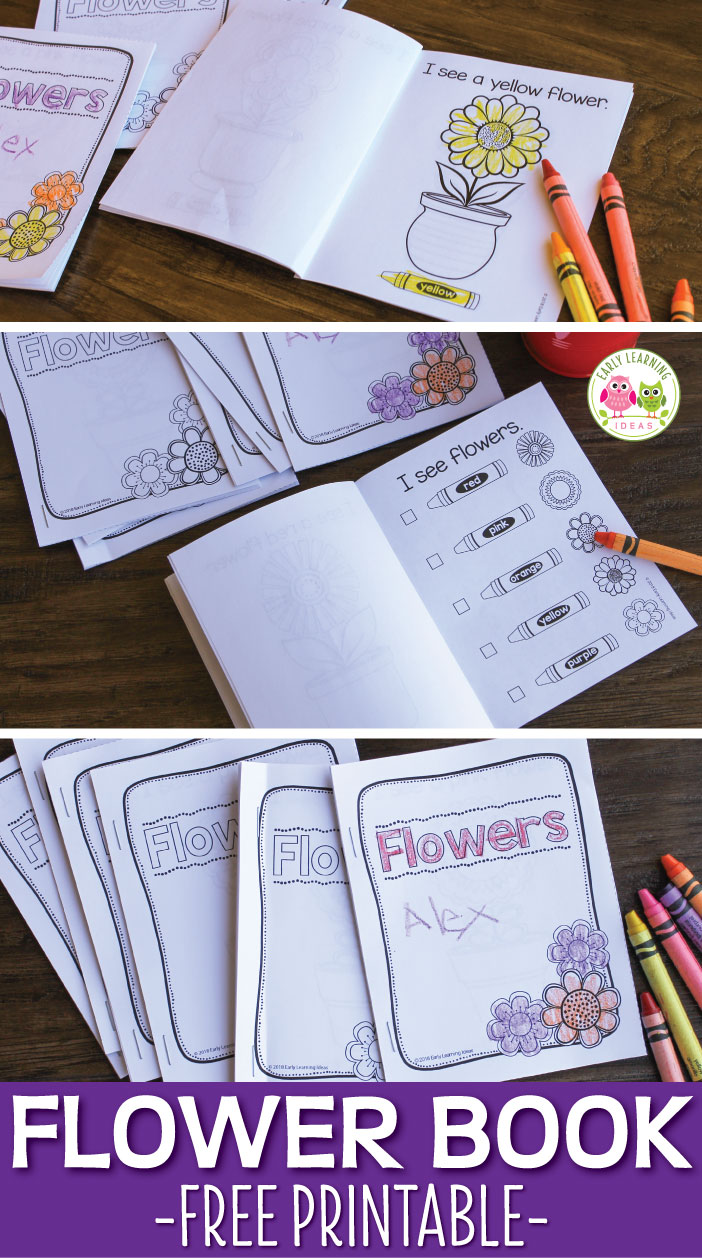 The sweet flower printable book is a great for emergent readers. Kids can learn color words as they read the simple, predictable text. The checklist on the last page of the flower book serves as a great review or can be used as a flower scavenger hunt. Perfect for your literacy centers, ELA centers, reading centers in preschool, pre-k, or kindergarten. A great literacy activity that you can take to the playground or on a walk through the neighborhood.