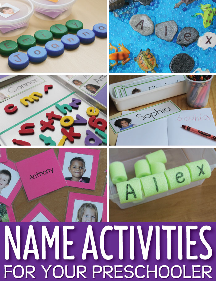 Here are a bunch of name activity ideas that you can use with your kids. Kids love themselves and they love their name. That's why using name activities is a super way to help kids learn about early literacy concepts in a meaningful way. Perfect for ELA centers, literacy centers, reading centers, and literacy work stations in preschool, pre-k, prep, TK and kindergarten.
