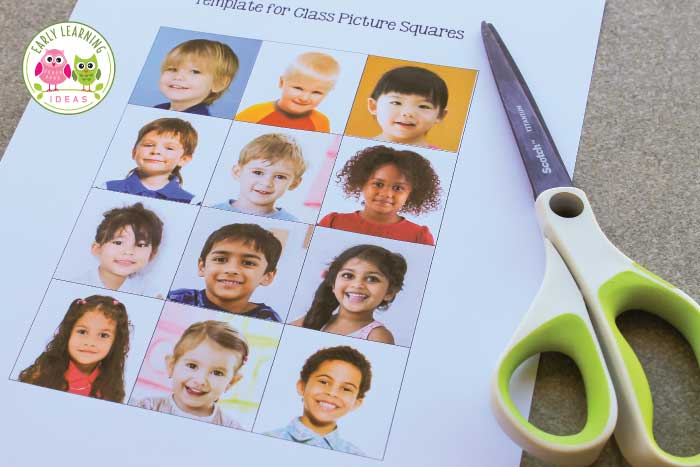Your kids will love this free printable name activity. Make a name matching set and kids can match pictures with written names. Perfect activity idea for back to school or the beginning of the school year....it helps with learning the names of friends along with spelling, beginning sounds, letter and name recognition. You students will love these activities during the first week and throughout the year in your early childhood literacy centers and writing centers. #preschool #nameactivities