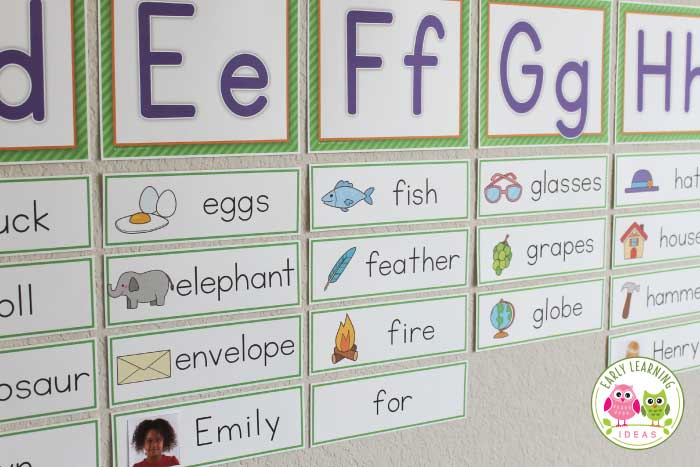 Name cards make name cards for your word wall early for Free printable word wall templates