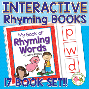 interactive rhyming book for preschool and kindergarten