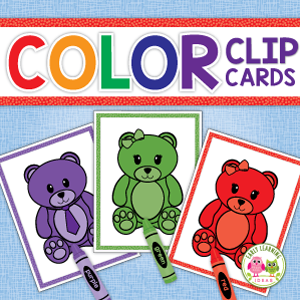 bear color sorting clip card activity for preschool and pre-k