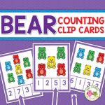 counting clip cards for bear counters