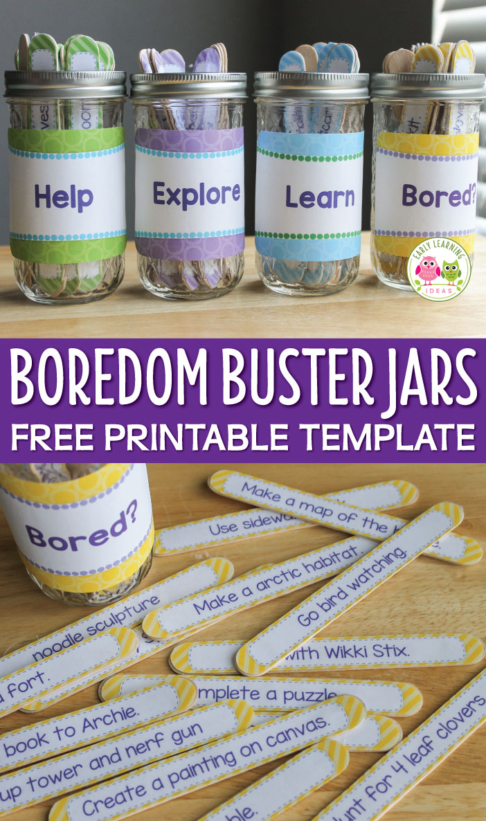 Boredom Buster Jars Early Learning Ideas