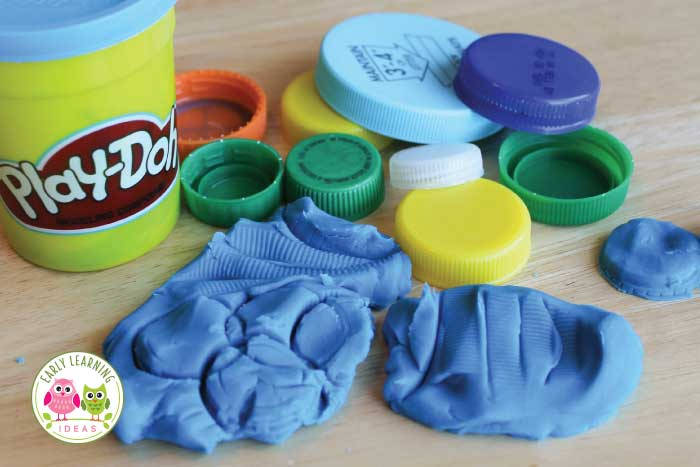 Plastic bottle caps are perfectly sized for little hands and can be used for so many ways in schools. Here are 25 ways to upcycle plastic bottle caps for learning activities with kids. Perfect for preschool, pre-k, kindergarten, pre-kindergarten, prep, and SPED. DIY activities and ideas for math centers, literacy centers, reading centers, sensory bins, are included. #preschool #preschoolactivities #plasticbottlecaps