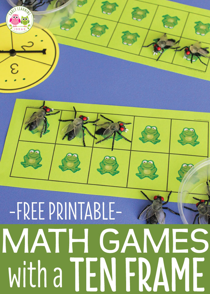 Math Games for Preschoolers: A Ten Frame Game That Kids Love to Play ...