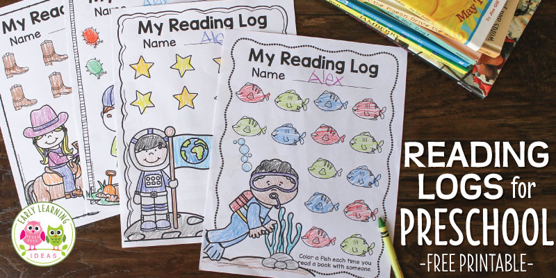 Preschool Reading Logs: Free Printable