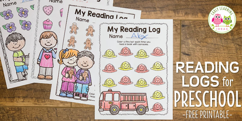 how to use free printable preschool reading logs