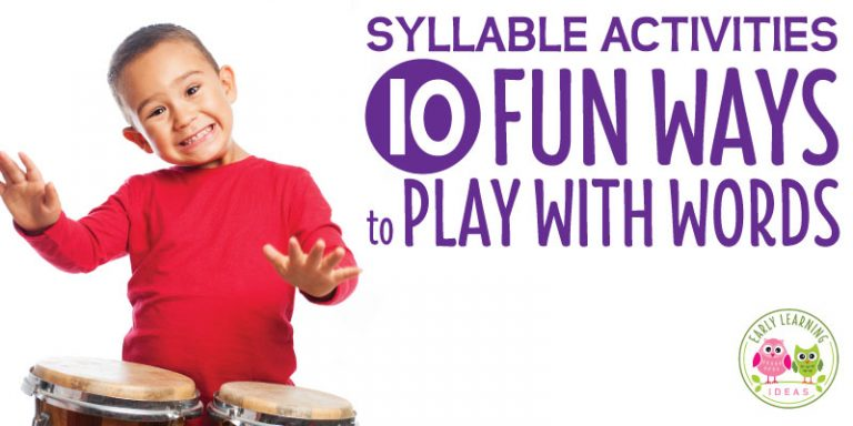 Syllable Activities for Kids:  10 Playful Ways to Break Words into Syllables
