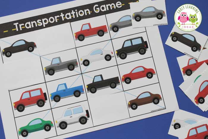 How To Use This Free Printable For 5 Fun Transportation