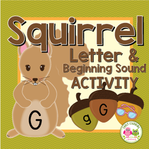 squirrel alphabet and beginning sound activity