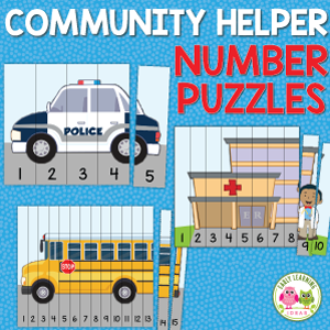 community helper number puzzles