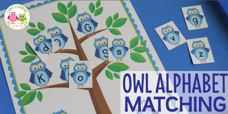 Learning Letters with an Owl Alphabet Activity